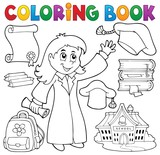 Coloring book graduation theme 2