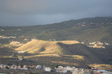 Sunset on Tenerife - small volcanos in countryside