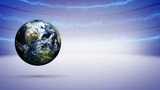 Earth and Business Lines Concept Animation, Rendering, Loop, Background, 4k