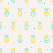 seamless pattern with pineapples - 136935231