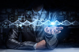 Biochemistry study and exploration . Mixed media