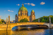 Berlin Cathedral with Spree river at sunset, Berlin Mitte, Germany