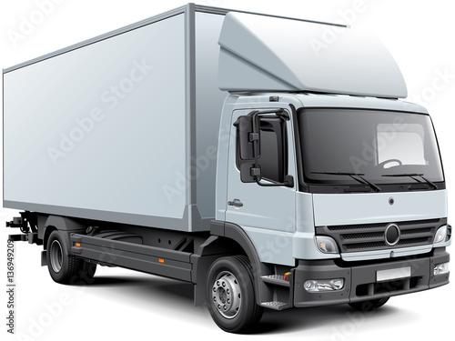 Fototapeta White box truck