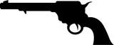 Wild West Cowboy Gun in Silhouette