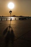 Abu Dhabi warm sunset