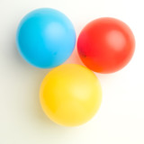 balloons in primary colors