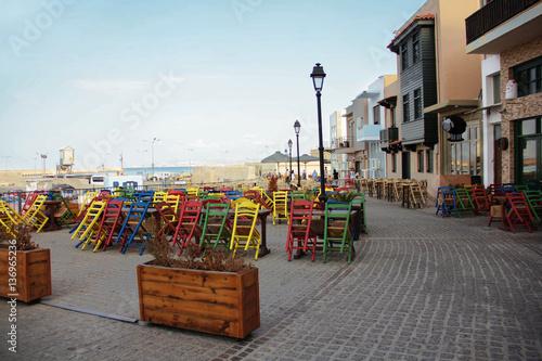 Street cafe of Rethymno