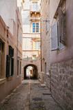 cozy narrow street in the Old Town of Dubrovnik