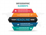 Abstract triangle business Infographics elements, presentation template flat design vector illustration for web design marketing advertising