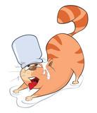Illustration of Cute Cat. Cartoon Character