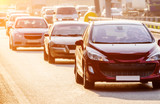 City heavy traffic
