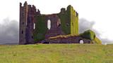 Ruins of Ballycarbery Castle near Cahersiveen, County Kerry in southwest Ireland
