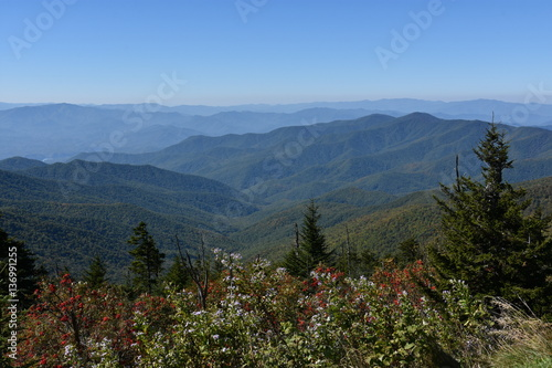 Poster View from Clingmans Dome at Great Smoky Mountains National Park in Tennessee