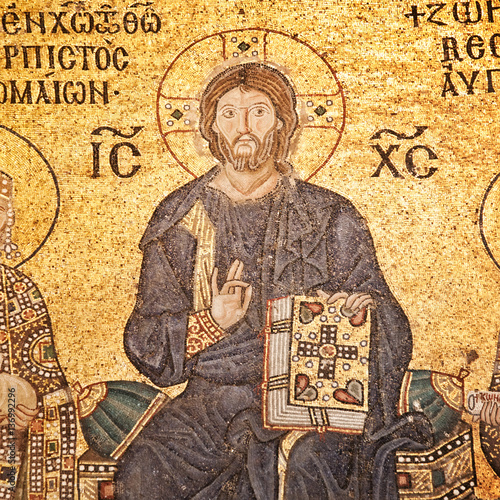 Poster Jesus Christ mosaic at Hagia Sophia