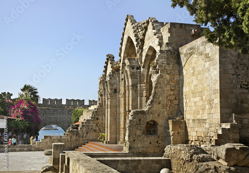 Our Lady of Burgh church in Rhodes city. Rhodes island. Greece