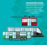 collection public transport service passenger vector illustration eps 10