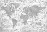 Vintage black world map flag pattern