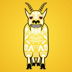 Vector illustration of a mountain goat © Daria Rosen
