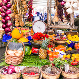 Various fruits and vegetables in local fruit market in Campo di Fiori, Roma