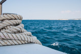 Rope on the boat - detail