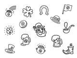 Lucky Leprechaun Outline  Icon Collection