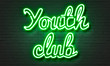 Youth club neon sign