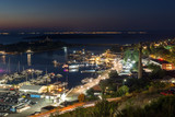 Night Panoramic view of the port of Sozopol, Burgas Region, Bulgaria
