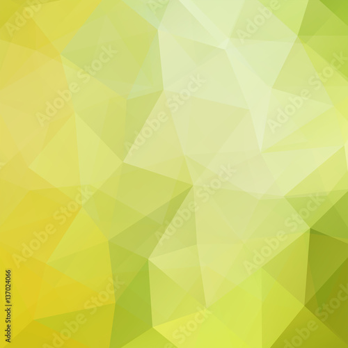 Polygonal vector background. Can be used in cover design, book design, website background. Vector illustration. Pastel green, yellow colors
