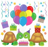 Party turtles theme image 1