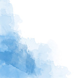 Fototapety Blue watercolor background vector