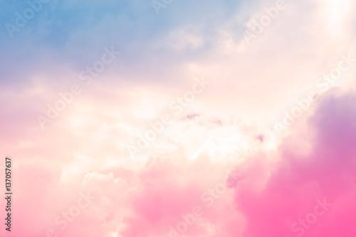 miękka chmura niebo abstrakcyjne pastelowe kolorowe tło