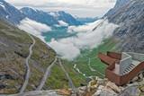 Trollstigen - scenic mountain road in Norway.