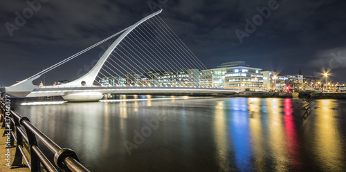 Samuel Beckett Bridge  , Dublin , Ireland Poster