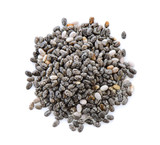 Chia seeds isolated with white background. - 137080456