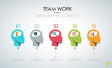 Info graphic teamwork. Business concept. Vector