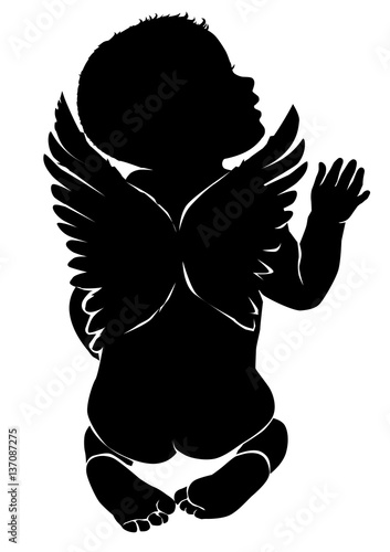 Angel baby with wings