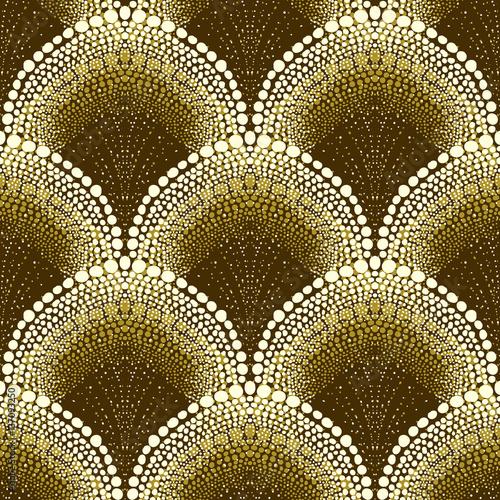 Fototapeta Dotted geometric pattern in art deco style