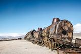 Train Cemetery (Cementerio de Trenes) in Uyuni, Bolivia