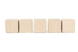 Fototapety Wooden toy cubes isolated on a white