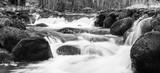 Black and White winter river
