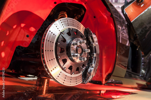 Sticker Brake disk and a wheel hub