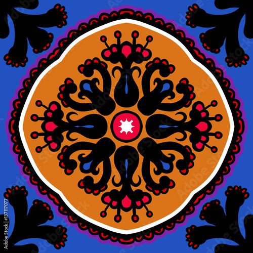 Suzani, vector seamless ethnic pattern - 137117077