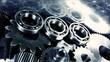 titanium ball-bearings sliding along steel gears, aerospace-industry
