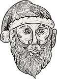 Santa Claus Head Mandala