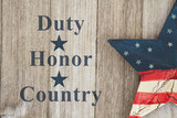 Duty Honor and Country message