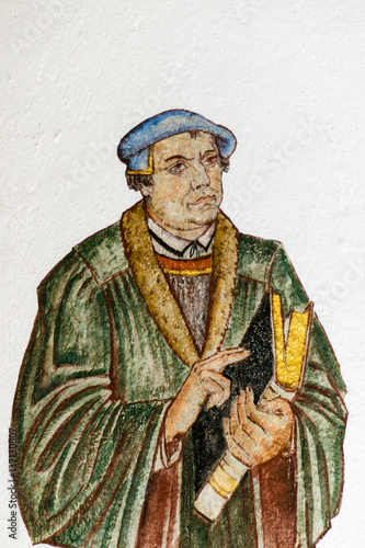 Poster Fresco of the german reformer Martin Luther