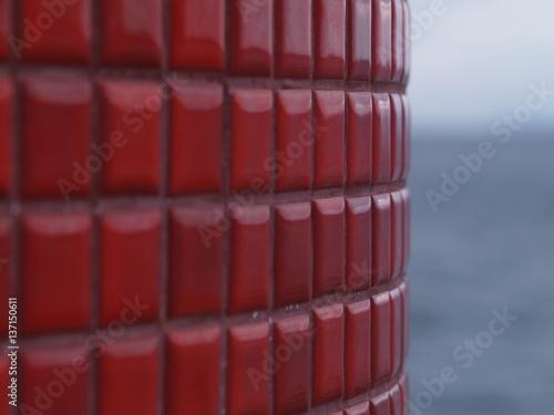 Papiers peints Bordeaux 灯台の赤いタイル