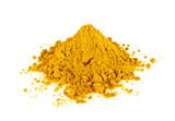 Turmeric powder isolated on white background. Curcuma powder. - 137156831