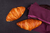 Croissant background.