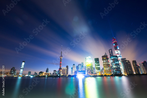 cityscape and skyline of shanghai Poster